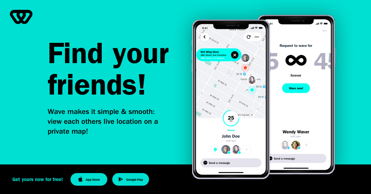 Wave - Private Location App  Locate your contacts real-time